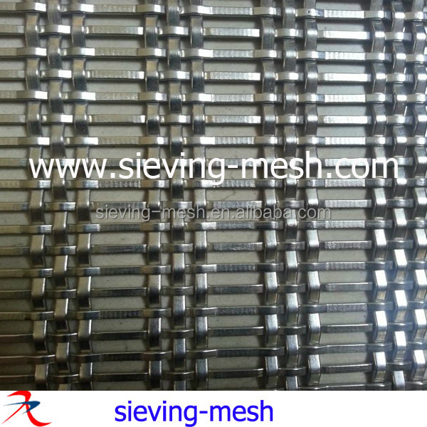 Architectural decorative wire mesh grille for ceiling cladding, metal facades wire nets