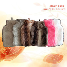 Wholesale hot water bottles with many kinds of new style high quality animal faux fur covers for happy bed time in cold winter