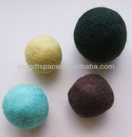 2018 New Products Handmade Craft eco friendly 100% Wool Nepal Felt material Dryer Balls Wholesale for pet toy Jewelry Beads DIY