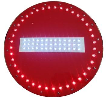 l 39 nergie solaire aucune entr e panneau de signalisation panneau en aluminium led clignotant. Black Bedroom Furniture Sets. Home Design Ideas