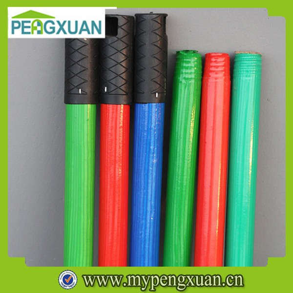 China Wholesale best price 120*2.2cm colorful pvc coated mop stick