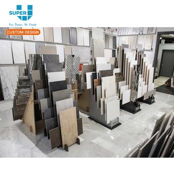 Modern Floor Stone Tile Display Stand