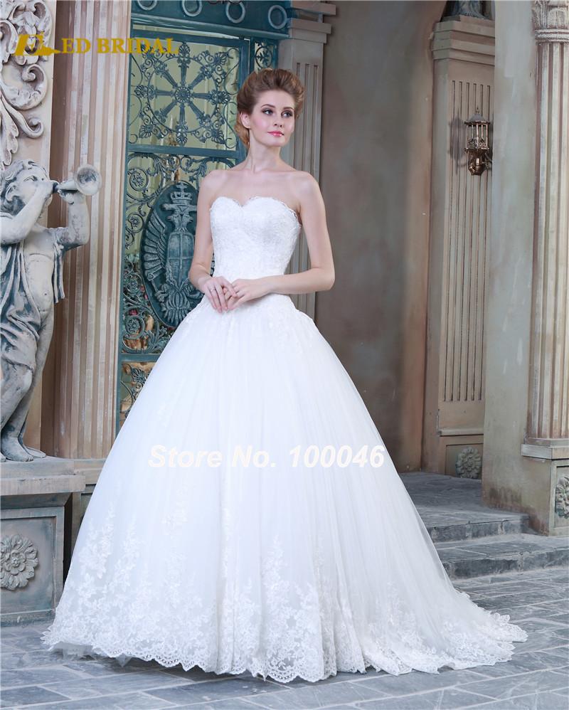 Vestido De Noiva 2015 Sweet Princess Tulle Ball Gown
