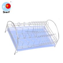 Kitchen accessory single layer stainless steel dish rack