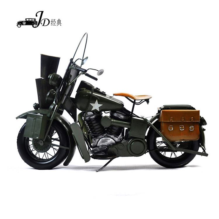 Top selling custom design metal craft motorcycle models clock from China