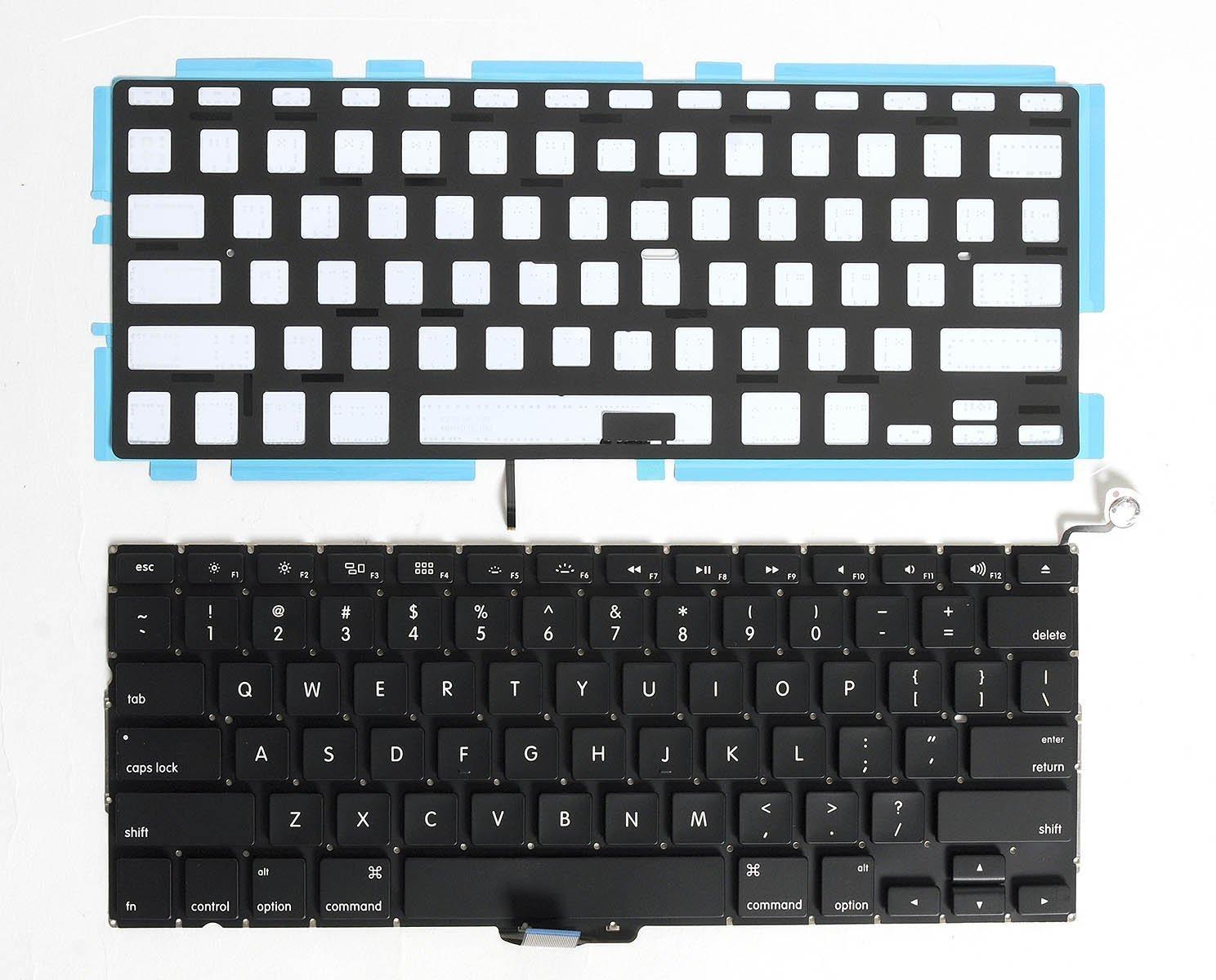 """SEENIGHT® NEW MacBook Pro 13"""" A1278 MB990 MB991 MB990LL/A MD313LL/A MD314 MB466 MB467 MD101 MD102 2009 2010 2011 2012 US Keyboard & Backlight Backlit"""