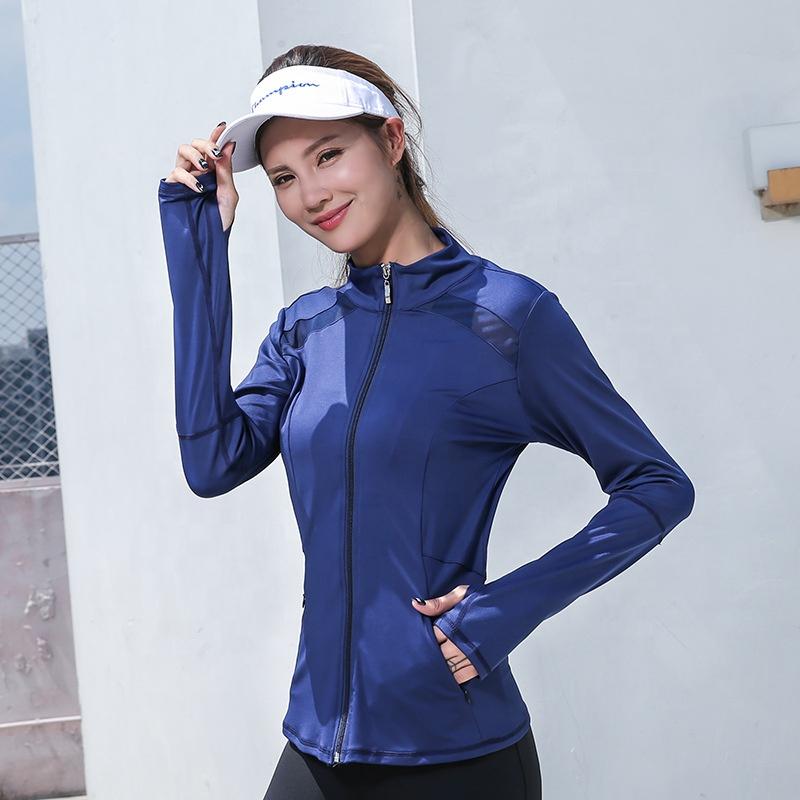 Autumn/Winter Women Yoga Clothing Long-sleeved Jacket,Fashion Mesh Fitness Sport Coat