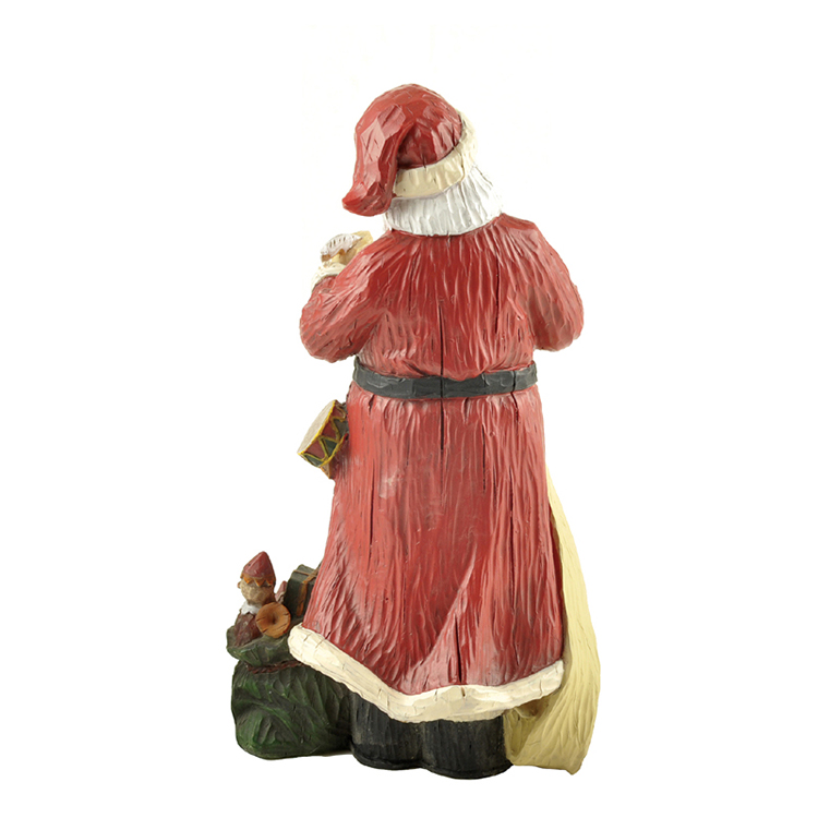 Resin Santa Claus Figure Statues For Christmas gift