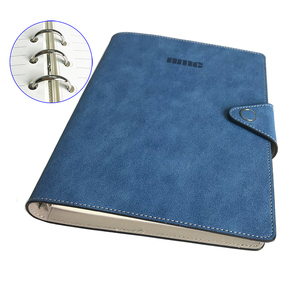 Customized spiral bound hardcover leather ring binder a5 notebook