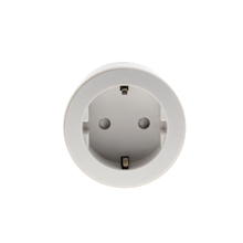 EU Standard 3 pins 10A white round smart wifi plug