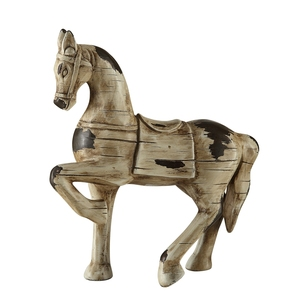 wholesale life size antique wood finish resin horse statue for sale