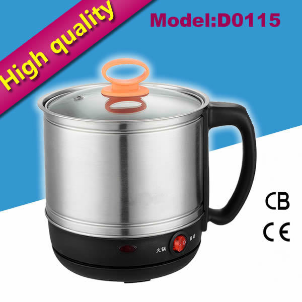 1.5L noodle cooker stainless steel electric mini hotpot