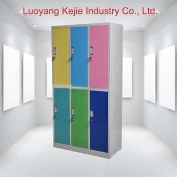 High Quality Gym Metal 6 Door Storage Cabinets Metal Locker ...