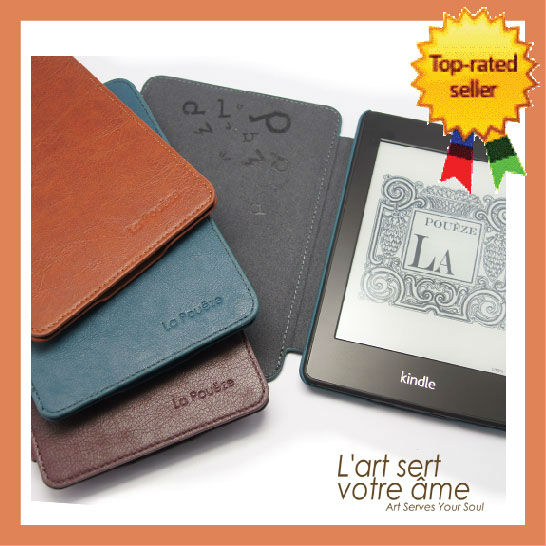 LaPoueze KINDLE Paperwhite Smart Case Cover Premium Leather with Auto Wake Sleep Wholesales Kindle Case