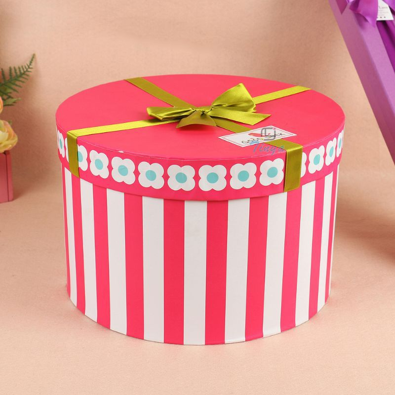 Large Round Cardboard Gift Boxes With Lid - Buy Round Cardboard ...