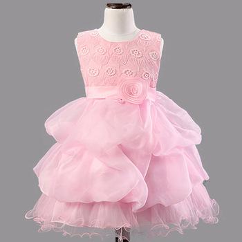 Brand New Baby Girls Colorful Dress Kids Glitter Child Wedding Dress ...