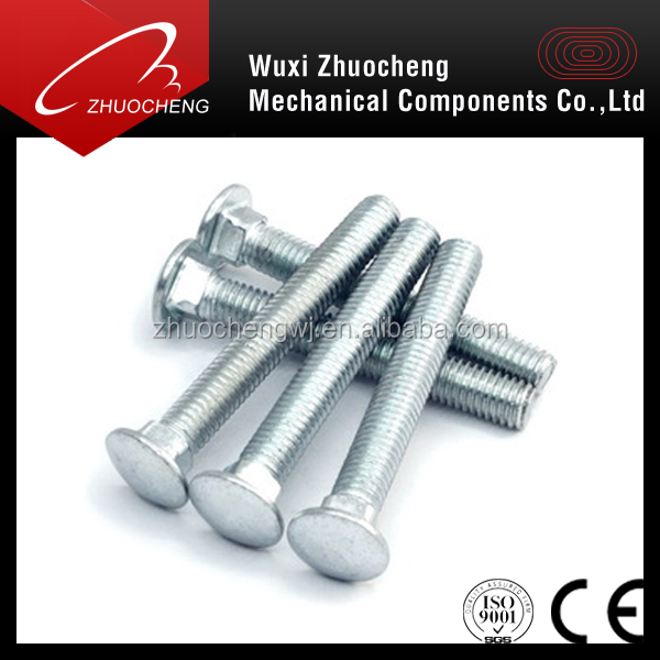 Hot sale GBT10 stainless steel M4 flat head square neck carriage bolt with competitive price