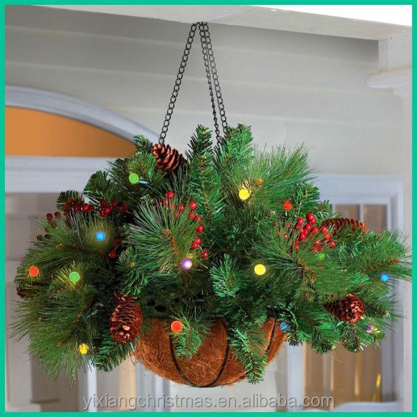 hanging basket garden light christmas decoration christmas decorations - Garden Hanging Decorations