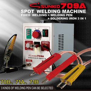 NEW SUNKKO 709A spot welding machine fixed welding + pen + soldering iron 3  in 1, 3 kinds of welding pen can be selected