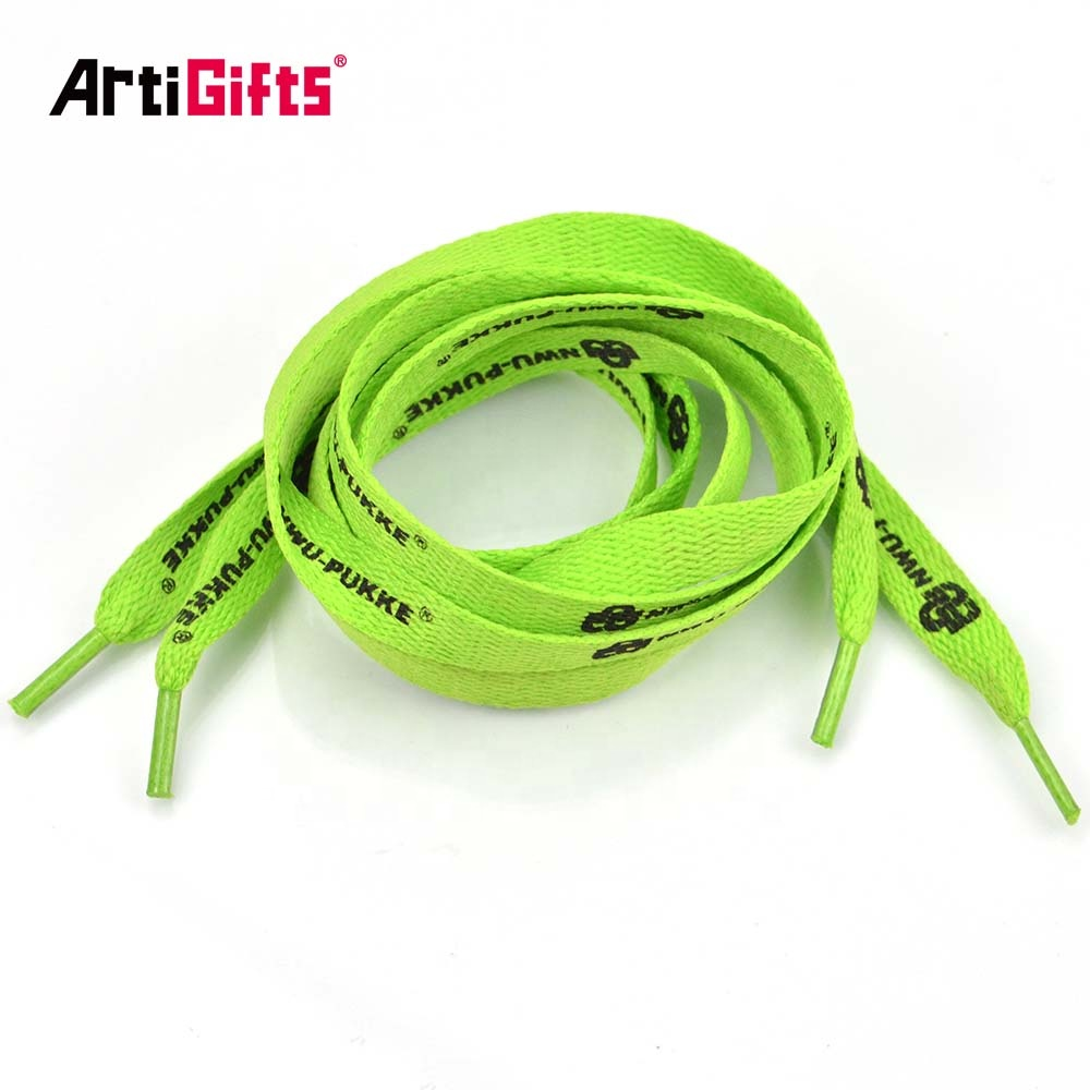 Promotional  Shoe Laces Ring Wholesale Custom Colorful Polyester Heat Transfer Shoe Lace Lock