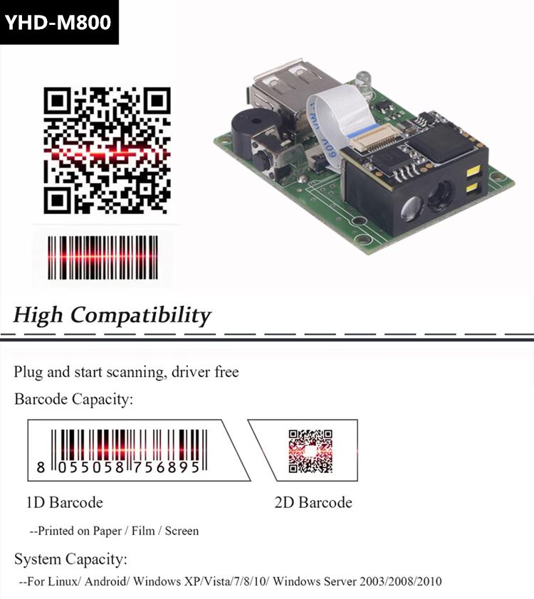 Embedded 1d 2d Barcode Scanner Module Cmos Barcode Scanner Module With  Rs232/usb Interface - Buy Barcode Scanner Module,Cmos Barcode Scanner  Module,1d