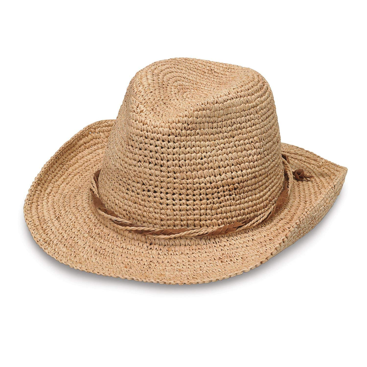 f229c18757448 Get Quotations · Wallaroo Hat Company Women s Hailey - Raffia Cowboy Hat