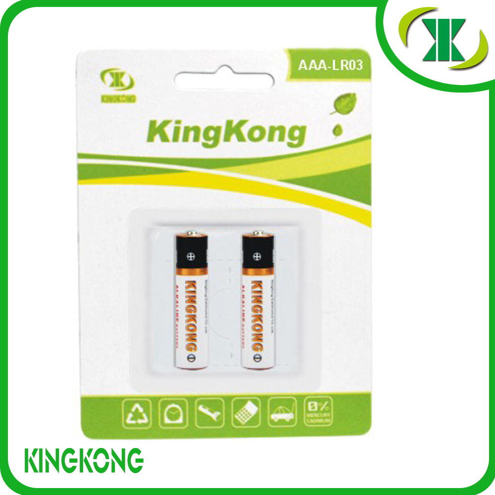 Excellent Quality 1.5V LR03 AAA aluminum jacket Alkaline battery supplier