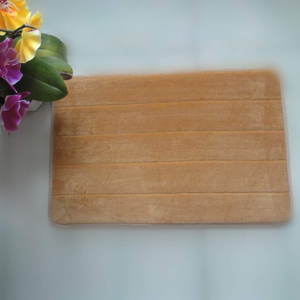 VORCOOL 4060cm Rectangle Shaped Soft Memory Foam Non-Slip Bath Mat Kitchen Mat Floor Rug Mat Carpet (Khaki)