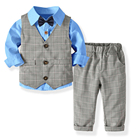 Mudkingdom baby boys spring 4 pieces suits wedding clothing set for kids
