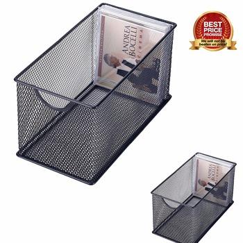 Incroyable Mesh Metal CD Holder Box Organizer Stackable Open Storage Bin Metal Mesh CD  Storage Box With
