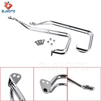 ZJMOTO High Quality Steel Chrome Motorcycle Saddlebag Guard Rails For Harley Touring 09-13