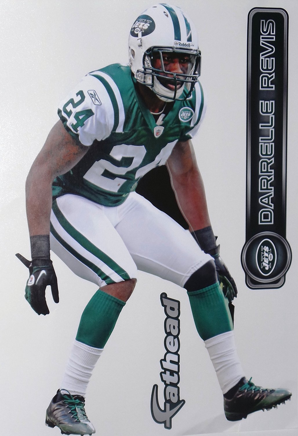 cd6c1307a Darrelle Revis New York Jets FATHEAD Official NFL Vinyl Wall Graphic 16