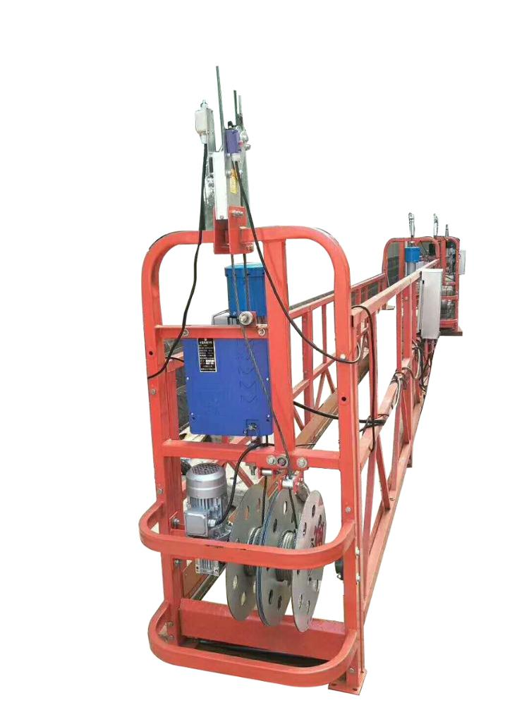 Hoist motor of electric lifting platform for external wall construction of high rise building