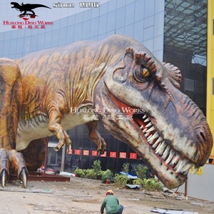 Animatronic Robot Jurassic Amusement Park Big T-Rex Dinosaur Statue and Playground Dinosaur Model