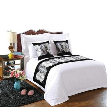 Wholesale 100 Cotton Satin Hotel Linen Cheap Bed Sheets Bedding Set