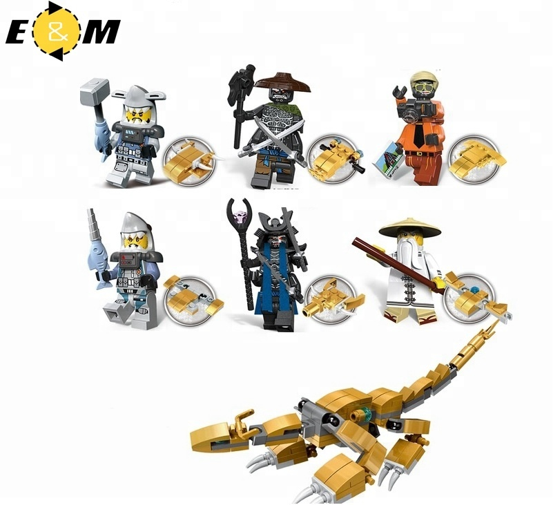 Ninjagoes NEW Movie Minifigs Hammer Head Garmadon Great White Wu with Dragon Toy Building Blocks toys for kids