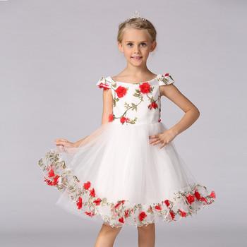 80b0534328 2-8 Anos De Idade Para Cima Flor Bebê Vestido Da Menina Do Vestido ...