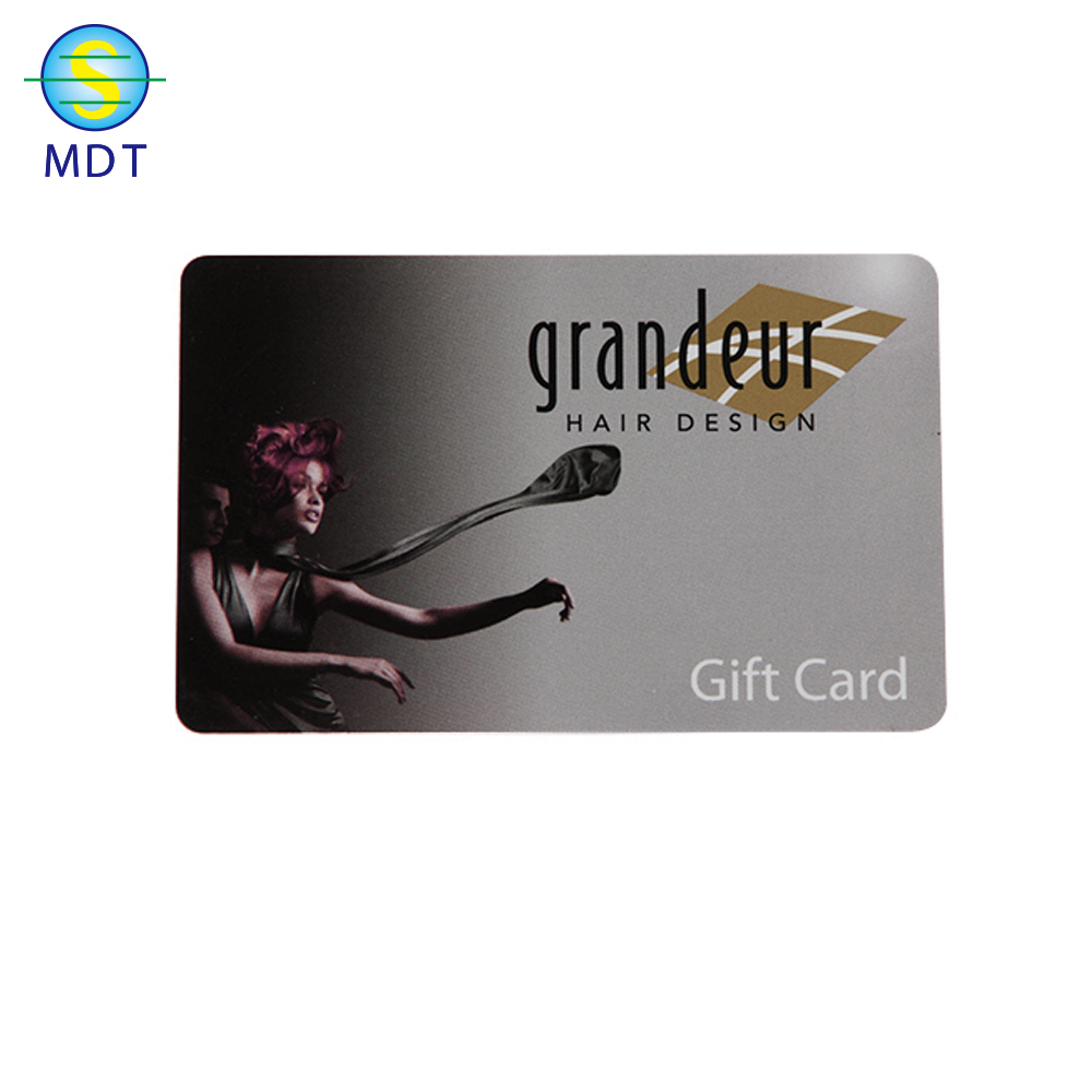 MDT O custom surface HICO /LOCO  magnetic stripe card in plastic pvc PROMOTION