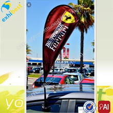 cheap car window flag with teardrop style for sale