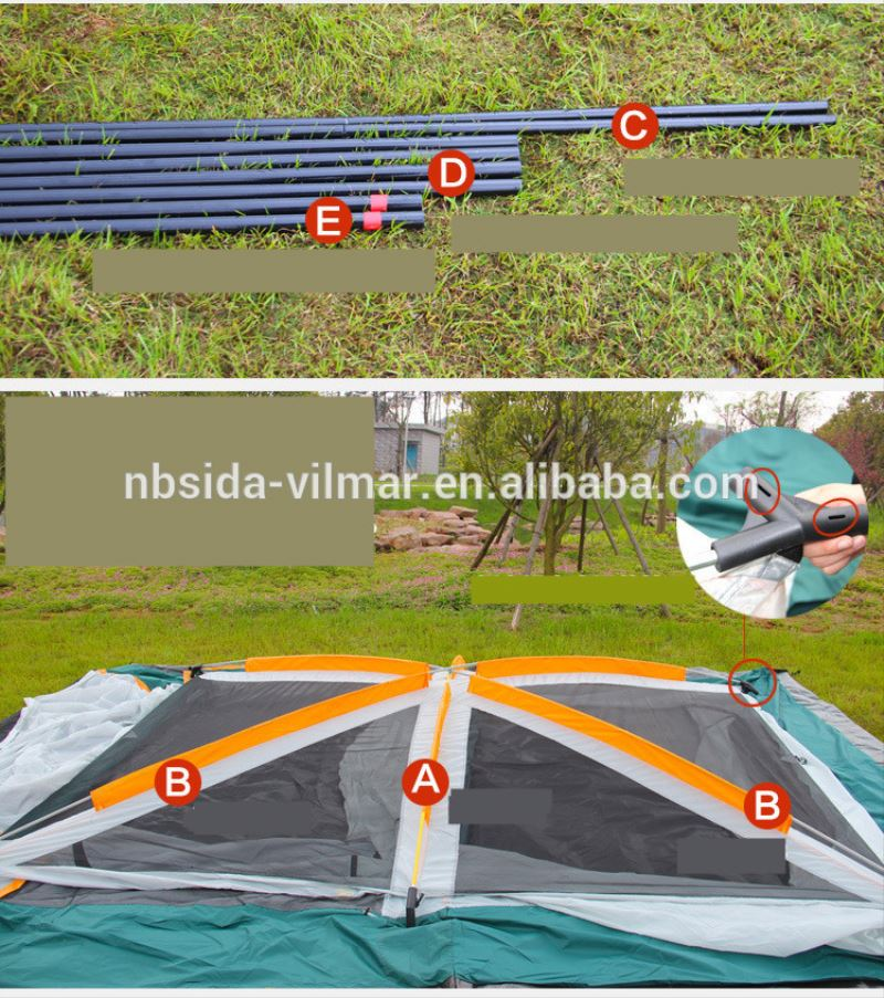 Factory Sale Cheaper red bull tent,Rainproof sun fishing tent,8-12 persons portable steam sauna tent
