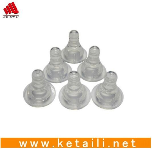 High quality transparent safety silicone feeding baby nipple, silicone nipple covers