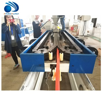 PP PE PVC Corrugated Pipe / Bellows Water Electric Conduit Pipe Making Machine