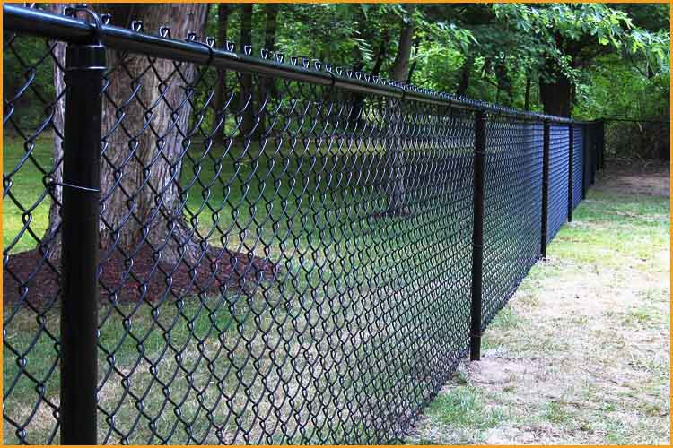 High quality chain link fence black post and paint chain for Cloture exterieur pas cher