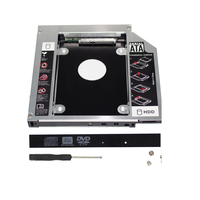 aluminium 9.0/9.5/12.7mm 2.5inch 2nd Hard Drive Disk Caddy SATA3.0 SSD Bracket adapter second hdd caddy laptop
