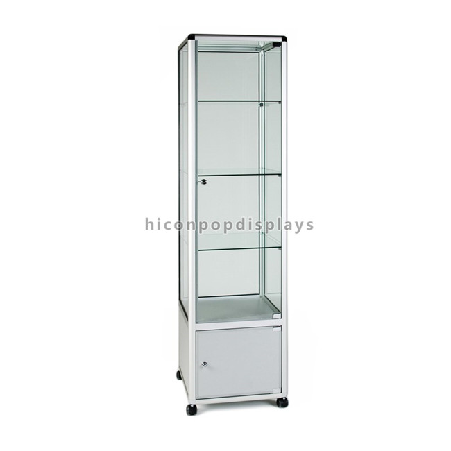 Creative Freestanding Metal Frame China Manufacturer Professional Showcase Glass Perfume Display Case