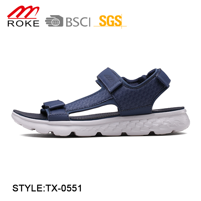 Fashion footwear casual pu men beach sandals custom logo men's sandal