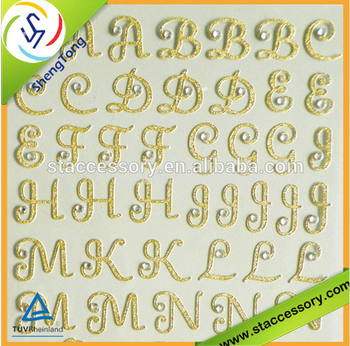 diy self adhesive mirror gold number and letter stickers