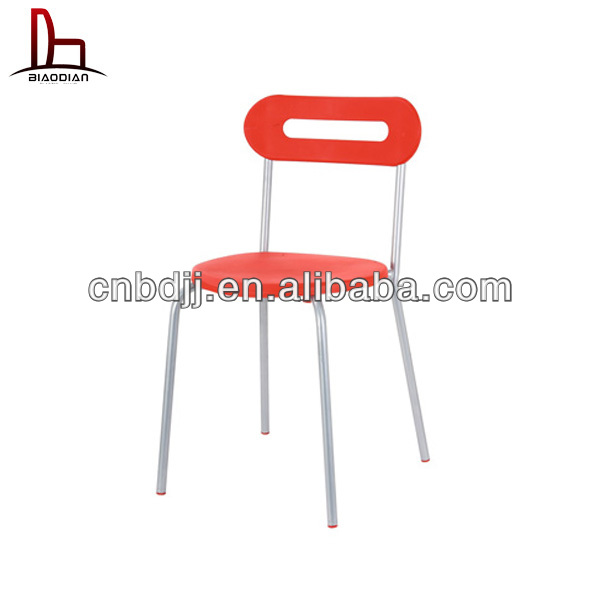 2014 China wholesale new design modern metal plastic colorful church dining furniture conference strong orange office chair