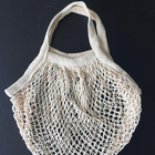 Ready to ship organic cotton mesh shopping tote bag
