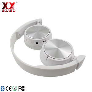 Hd Microphone customized brand Oem Wireless Metal Headband Bluetooth Hi Fi Headphone Bass Speaker With Mic